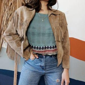 Vintage Wilson's Genuine Leather Fringe Jacket